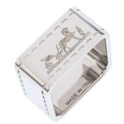Hermes Bolduc Palladium Plated Scarf Ring