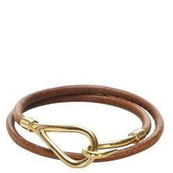 Hermes  Brown Hook Double Tour Bracelet