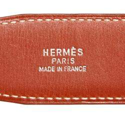 Hermes Black Calf Leather Constance Belt
