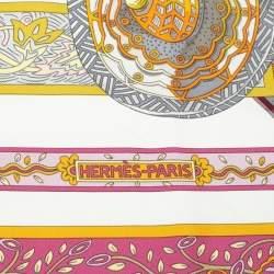Hermes Multicolor Le Songe De La Licorne Silk Square Scarf
