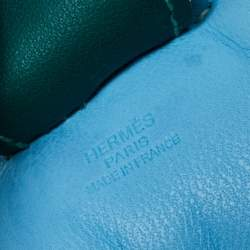 Hermes Blue GriGri Rodeo Horse Bag Charm MM