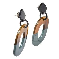 Hermes Isthme Lacquered Buffalo Horn Drop Earrings