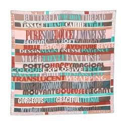 Hermes Multicolor Mots de Soie Silk Scarf