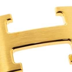 Hermès Constance Polished Gold Plated Belt Buckle 32 MM