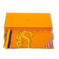 Hermes Multicolor Cashmere & Silk Della Cavalleria Square Scarf