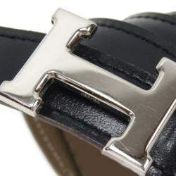 Hermes Black Leather Constance Belt