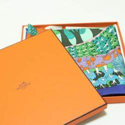 """Hermes Multicolor """"A TRAVERS CAMPS"""""""" Silk Scarf"""
