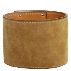 Hermes Brown Suede Kelly Dog Extreme Bracelet