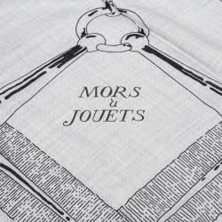 Hermes Grey & Blue Mors à Jouets Chemise Cashmere & Silk Shawl