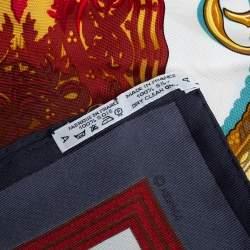 Hermès Grey Hommage a l'Amitie Franco-Hellenique Silk Scarf