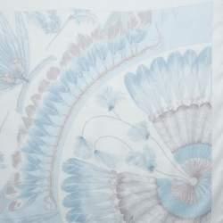 Hermès Pearl White Brazil Detail Silk Scarf
