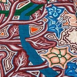 Hermes Multicolor Printed Cashmere & Silk L'arbre du Vent Scarf