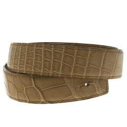 Hermes Beige Alligator Belt Strap 85 CM