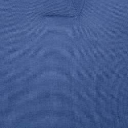 Hermès Blue Cashmere Sleeveless Polo T-Shirt S