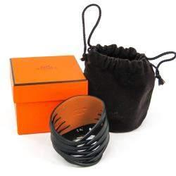 Hermes Black Box Calf Leather Bracelet