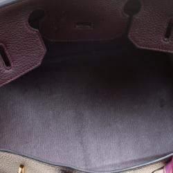 Hermes Bordeaux Togo Leather Gold Hardware Birkin 35 Bag