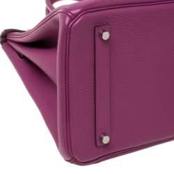 Hermes Tosca Togo Leather Palladium Hardware Birkin 35 Bag