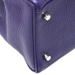 Hermes Ultraviolet Clemence Leather Palladium Hardware Kelly Retourne 35 Bag