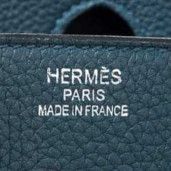 Hermes Colvert Togo Leather Palladium Hardware Birkin 35 Bag