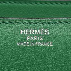 Hermes Green Leather Constance Elan Shoulder Bag