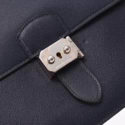 Hermes Navy Blue Leather Sac a Depeches Bag