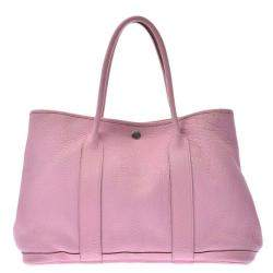 Hermes Pink Leather Garden Party 36 Tote Bag