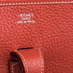 Hermes Cuivre Togo Leather Evelyne III PM Bag