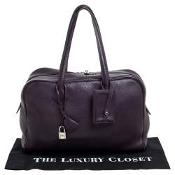 Hermes Raisin Clemence Leather Victoria II Bag