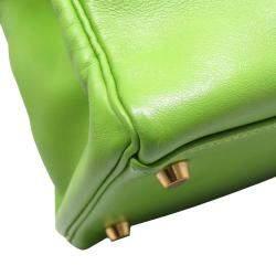 Hermes Green leather Kelly 32 Bag
