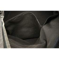 Hermes Black Canvas Herline TGM Tote Bag