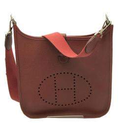 Hermes Brown Leather Evelyn I PM Bag