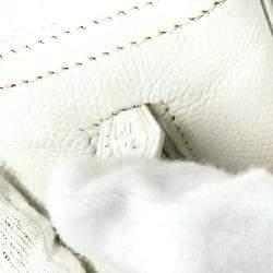 Hermes White Epsom Leather Plume 20 Bag