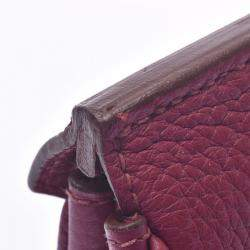 Hermes Red Clemence Leather Palladium Hardware Birkin 30 Bag