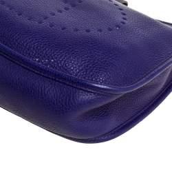 Hermes Ultraviolet Clemence Leather Evelyne I PM Bag