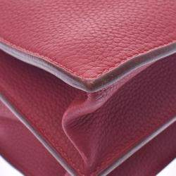 Hermes Red Fjord Leather Sac à Depeches 41 Bag