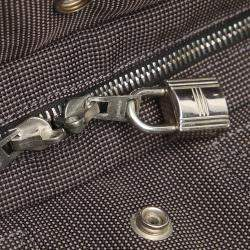 Hermes Grey Canvas  Fourre Tout PM Tote Bag