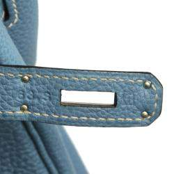 Hermes Blue Togo Leather Birkin 35 Bag