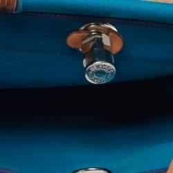 Hermes Bleu Izmir/Natural Canvas And Leather Herbag Zip 31 Bag