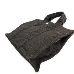 Hermes Grey Canvas Herline PM Tote Bag