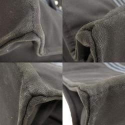 Hermes Black Canvas Fourre Tout GM Tote Bag