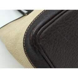 Hermes Cream Toile Canvas Garden Party TPM Bag