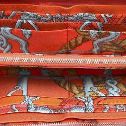 Hermes Pink Epsom Leather Azap Wallet
