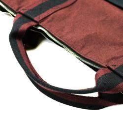 Hermes Red/Black Canvas Fourre Tout Briefcase