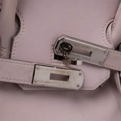 Hermes Rose Dragee Swift Leather Palladium Hardware Birkin 35 Bag