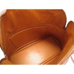 Hermes Gold/Brown Courchevel Leather Bolide 35 Bag