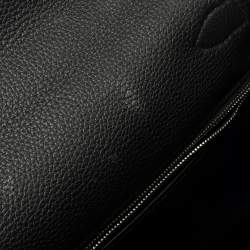 Hermes Black Togo Leather Palladium Hardware Kelly Retourne 28 Bag
