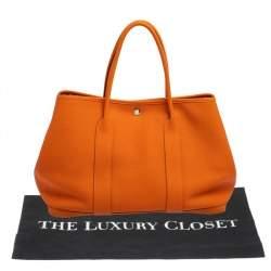 Hermes Orange Negonda Leather Garden Party 36 Bag
