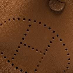 Hermes Gold Togo Leather Evelyne III GM Bag