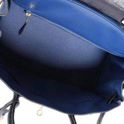 Hermes Blue Marine Alligator Gold Hardware Novillo Birkin 30 Bag