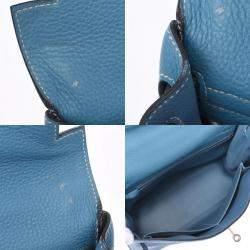 Hermes Blue Togo Leather Palladium Hardware Birkin 32 Bag